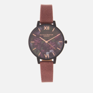 Olivia Burton Women's After Dark Floral Watch - Pink/Black