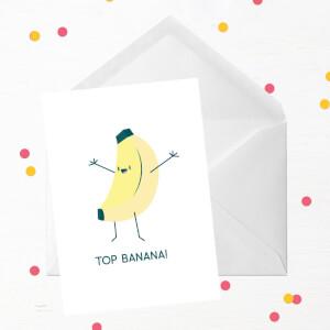 Top Banana! Greetings Card