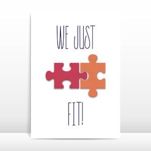 We Just Fit! Greetings Card