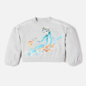 Adidas Girls Frozen Sweatshirt - Light Grey Heather
