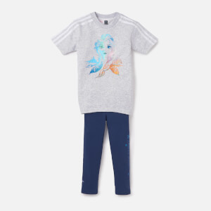 adidas Girls Frozen T-Shirt and Legging Set - Light Grey Heather