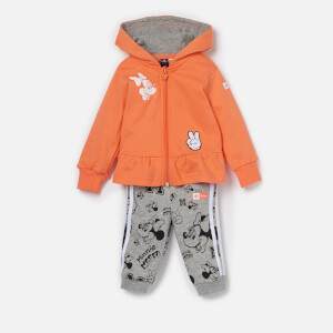 adidas Girls' Infant Minnie Mouse Jogger And Hoody Set - Semi Coral