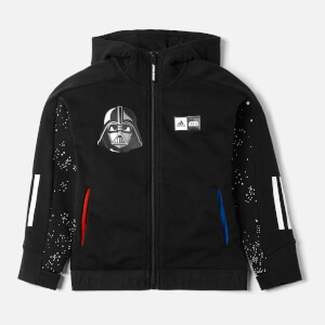 Adidas Boys Star Wars Full Zip Hoody - Black