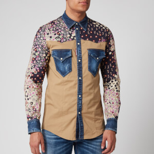Dsquared2 Men's Floral Shirt - Blue
