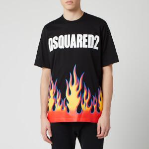 Dsquared2 Men's Flame Print T-Shirt - Black