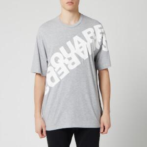Dsquared2 Men's Angled Mirror Logo T-Shirt - Grey Melange