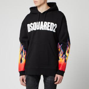 Dsquared2 Men's Flame Logo Hoody - Black