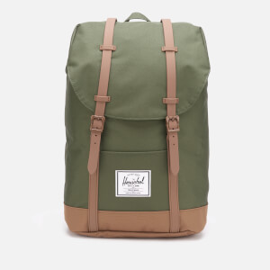 Herschel Supply Co. Men's Retreat Back Pack - Dark Olive/Saddle Brown