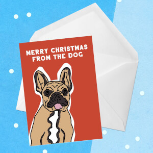 Merry Christmas From The Dog Greetings Card