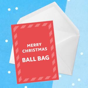 Merry Christmas Ball Bag Greetings Card