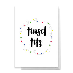 Tinsel Tits Greetings Card
