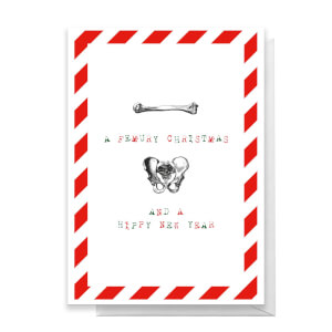A Femury Christmas And A Hippy New Year Greetings Card