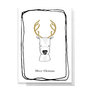 Merry Christmas Deer Greetings Card