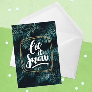 Let It Snow Greetings Card
