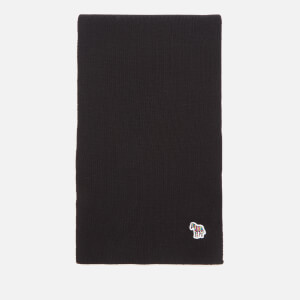 PS Paul Smith Men's Zebra Scarf - Black