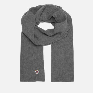 PS Paul Smith Men's Zebra Scarf - Grey