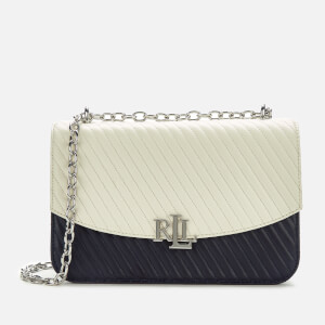 Lauren Ralph Lauren Women's Madison Large 27 Cross Body Bag - Vanilla/Lauren Navy