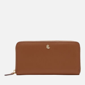 Lauren Ralph Lauren Women's Zip Large Continental Wallet - Lauren Tan/Monarch Orange