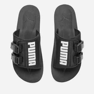 Puma Men's Wilo Lux Nylon Sliders - Puma Black/Whisper White