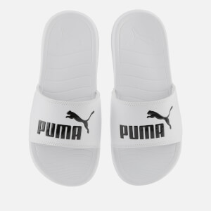 Puma Men's Popcat 20 Slide Sandals - Puma White/Puma Black