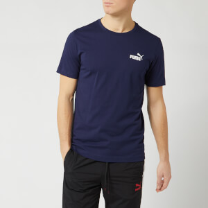 Puma Men's Essentials Small Logo Short Sleeve T-Shirt - Peacoat