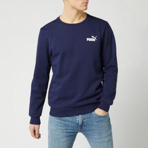 Puma Men's Essentials Logo Crew Neck Sweatshirt - Peacoat