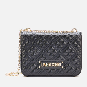 Love Moschino Women's Quilted Medium Shoulder Bag - Black