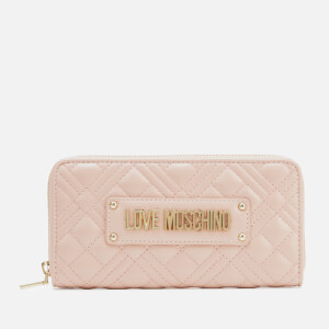 Love Moschino Women's Quilted Large Zip Around Wallet - Pink
