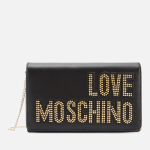 Love Moschino Women's Logo Chain Shoulder Bag - Black