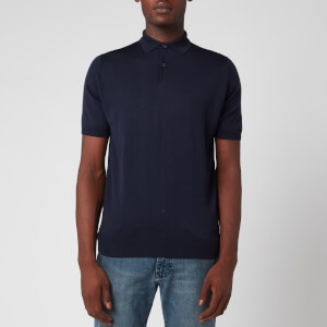 John Smedley Men's Payton 30 Gauge Merino Polo Shirt - Midnight