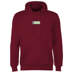 Everyday Colour Collection - Maroon/Blue/Yellow Hoodie - Burgundy