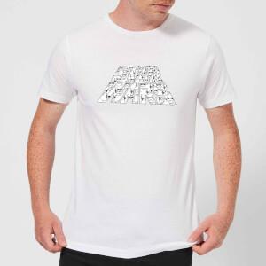 Star Wars: The Rise Of Skywalker IW Trooper Filled Logo Men's T-Shirt - White