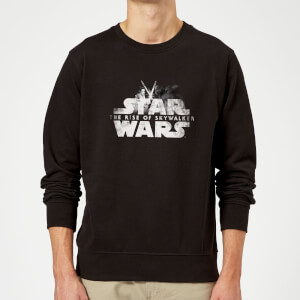 Star Wars The Rise Of Skywalker Rey + Kylo Battle Sweatshirt - Black