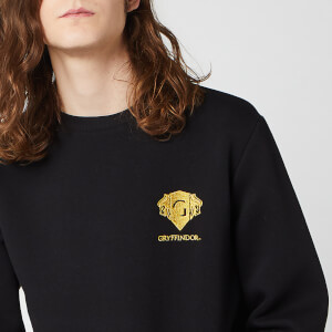 Sweat-shirt Unisexe Harry Potter Gryffindor Brodé - Noir