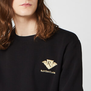 Harry Potter Ravenclaw Unisex Embroidered Sweatshirt - Black
