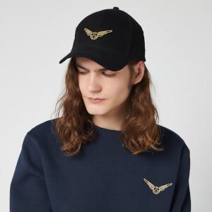 Cappello con Visiera Ricamato Harry Potter Boccino d'oro - Nero