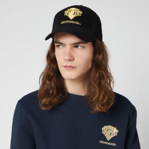 Cappello con Visiera Ricamato Harry Potter Grifondoro - Nero