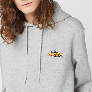 DC Batman Unisex Embroidered Hoodie - Grey