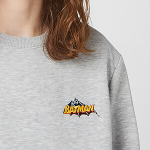 DC Batman Unisex Embroidered Sweatshirt - Grey