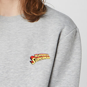 Sweat-shirt Unisexe DC Superman Brodé - Gris