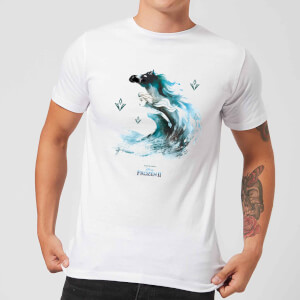 Frozen 2 Nokk Water Silhouette Men's T-Shirt - White