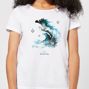 Frozen 2 Nokk Water Silhouette Women's T-Shirt - White