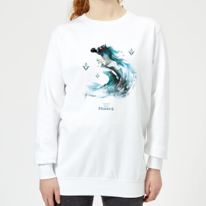 Frozen 2 Nokk Water Silhouette Women's Sweatshirt - White