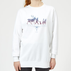 Frozen 2 Believe In The Journey Women's Sweatshirt - White