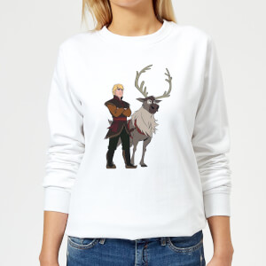Frozen 2 Sven And Kristoff Women's Sweatshirt - White