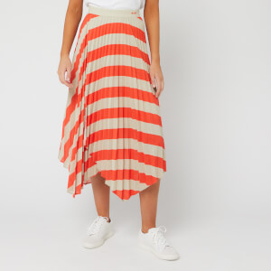 BOSS Women's Trena Midi Skirt - Bright Orange
