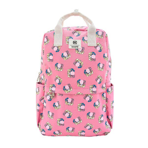 Loungefly DC Harley Quinn Bubble Gum Nylon Square Backpack