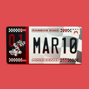 Mario Kart Mario Limited Edition Metal Number Plate
