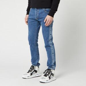 Balmain Men's Slim Jeans Paris Jacquard - Bleu