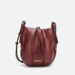 Isabel Marant Women's Okaya Hobo Pleat Bag - Dark Red